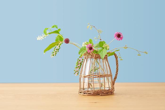 SPICE OF LIFE 花瓶 かご編みフラワーベース FONTAINE