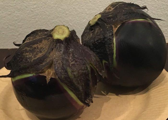 伝統野菜、長岡(中島)巾着ナス