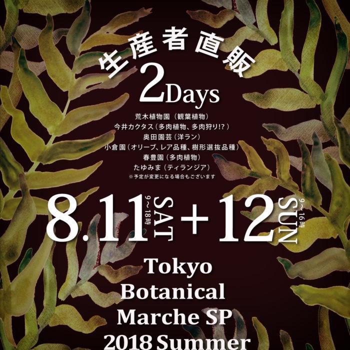 今回潜入したイベントは、東京最大級の園芸店オザキフラワーパークで開催された生産者直販イベント!「Tokyo Botanical Marche SP」2018/8/11(土)~12(日)9:00~18:00(12日は16:00まで)  多肉、シダ、オリーブ、ティランジアなど様々なジャンルから生産者が一堂に集うスペシャルなイベント。当日はジャンル入り乱れる植物ファンの熱気に包まれていました。
