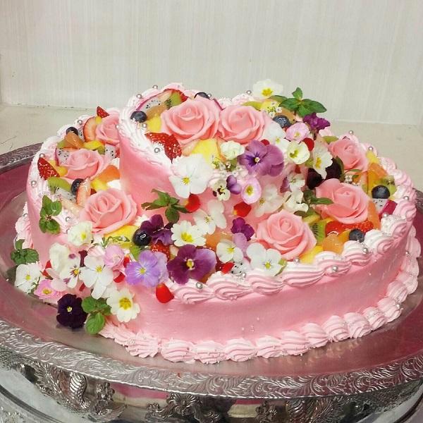 エディブルフラワーケーキ
