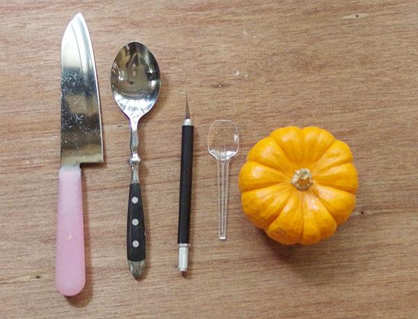かぼちゃに多肉植物の寄せ植え