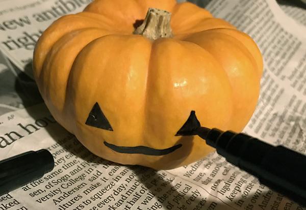 かぼちゃランタンを作る