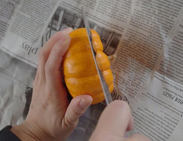 かぼちゃのカット