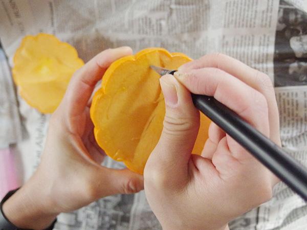 かぼちゃの準備