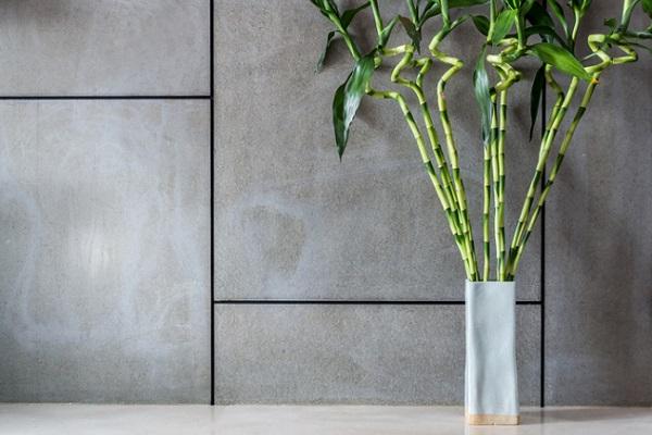 背丈の高いミリオンバンブーを数本まとめて花器にいれるだけでも豪華な空間作りになりますね。
