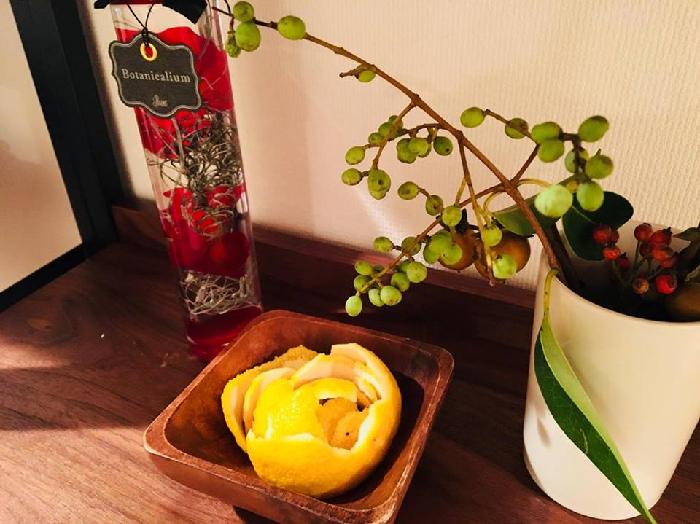 柚子のポプリの完成です♪  お部屋の爽やかな芳香剤として、数日間柚子の香りを楽しみましょう。  香りを楽しんだら、ネットに入れて柚子湯として再利用できます。