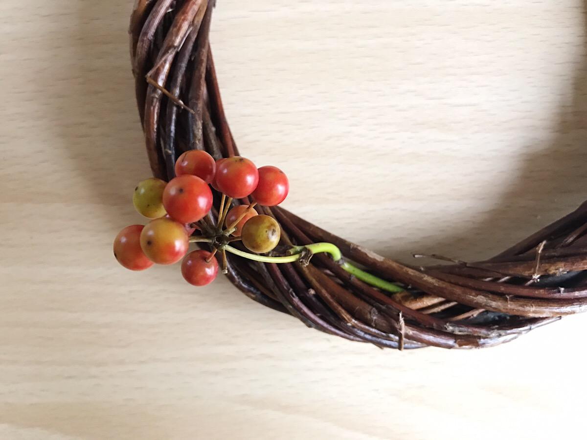 他の材料を何も使わずに、くるっと丸めるだけのサンキライのリースや100均のリース台で作るサンキライのリース。どちらも簡単に作れるおしゃれなリースです。サンキライはドライになっても実落ちが少なく、しばらくは赤い実のまま楽しめるので秋冬の間長く楽しめるのもいいところ。サンキライをお花屋さんで見つけたら、ぜひリース作りにチャレンジしてみてくださいね。