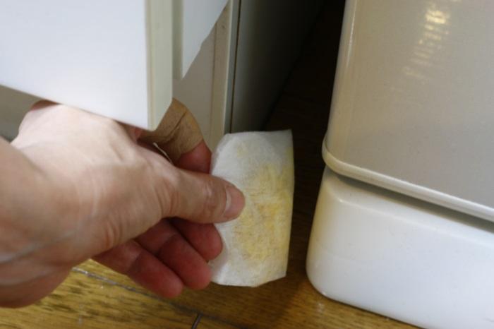 乾燥させたレモンの皮を袋などに入れ虫の侵入経路に置いておくと、ゴキブリだけでなく多くの虫を除けられます。  また、水に果汁を混ぜたものをゴキブリに吹きかけると動きが止まるそうです。