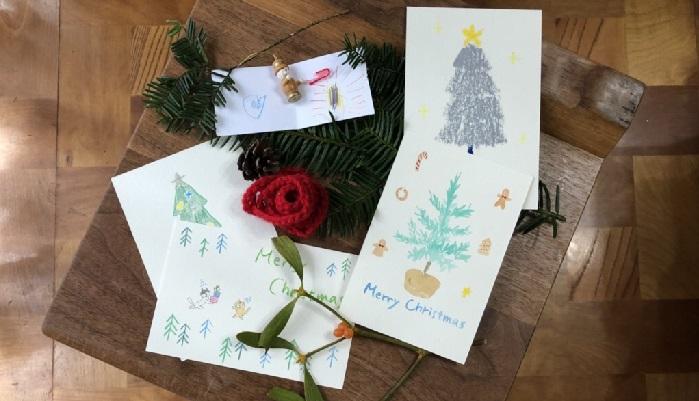 クリスマス カード イラスト 簡単