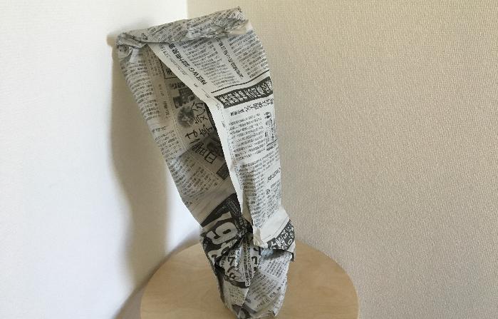 サンスベリアのように乾燥に強いものでしたら、こんなふうに鉢ごと又は株ごと抜き取り、新聞紙に包んで冬を越させることも可能です。