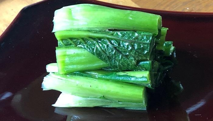 1年目の野沢菜漬けはとてもおいしく漬けることができました。