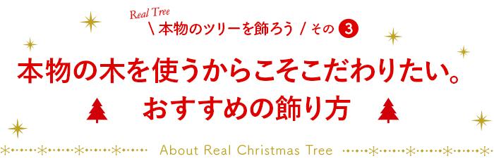 本物の木を使うからこそこだわりたい。おすすめの飾り方