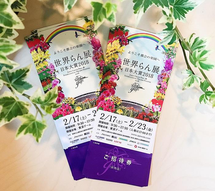 今回LOVEGREENより、10組20名様に世界らん展日本大賞2018のチケットをプレゼントいたします!  応募方法 以下のメールアドレスに、お名前(フリガナ)・ご住所・年齢をお送りください。 ※応募時の個人情報は他の目的には使用いたしません。  present@strobolight.co.jp  締め切り2018年1月29日 (月) 23:59まで 当選発表2018年1月31日 (水)    当選者に直接ご連絡いたします。  この冬に世界の蘭をお楽しみください! 多くのご応募お待ちしております。