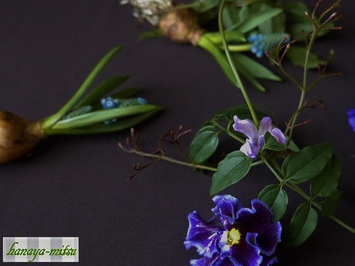 春の球根植物の成長力をご存知ですか。試しに他の植物と一緒の花瓶に生けて、一晩放置してみてください。