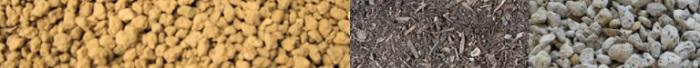 乾燥地帯の植物は、水はけの悪い土が苦手。水はけのよい土にするため、植える前に土量改良しましょう。  赤玉土を全体の6~7割、腐葉土2割、軽石1~2割を配合すると水はけのよい土ができあがります。