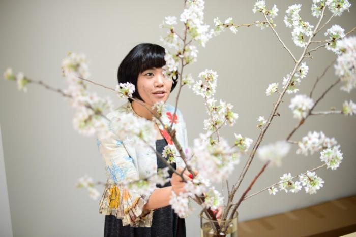桜の準備 お花屋さんを訪れ、桜の枝が満開か、つぼみのままなのかを確認しましょう。つぼみが多い場合には、開花するのに2-3日かかる場合があります。