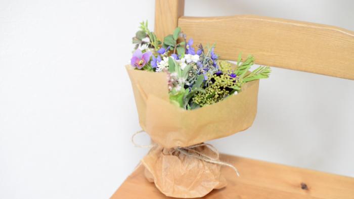 ガーデンのお花を集めたブーケ