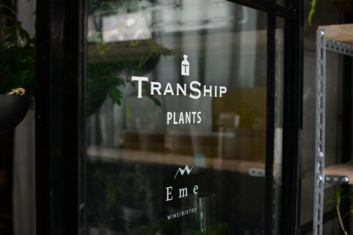 おしゃれな観葉植物のお店TRANSHIP。店名であるTRANSHIPとは「積み替え」という意味があります。大切に育てられた観葉植物をTRANSHIPを中継してお客様の暮らしを豊かにするそんなお店です。  ぜひ皆さんもTRANSHIPに、そして今回オープンした「WINE&BISTRO Eme エメ」に訪れてみてはいかがでしょうか。  TRANSHIP  〒142-0062 東京都品川区小山3-11-2-1F 店頭営業:金・土・日曜 11:00〜19:00 TEL:03-6421-6055 FAX:03-6421-6080  FB:TRANSHIP  Instagram:TRANSHIP