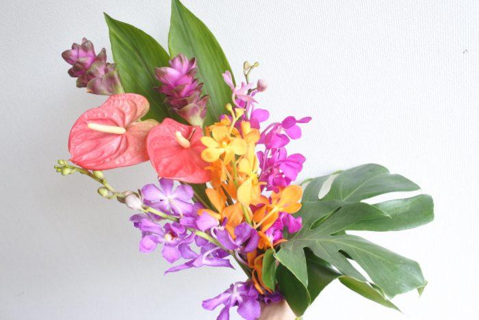 南国生まれのトロピカルフラワーは暑さに強く、切り花になっても長持ちします。個性的でビビッドカラーのものが多く、飾ると南国の雰囲気になりますね。そんなトロピカルフラワーの中から3種類ご紹介します。