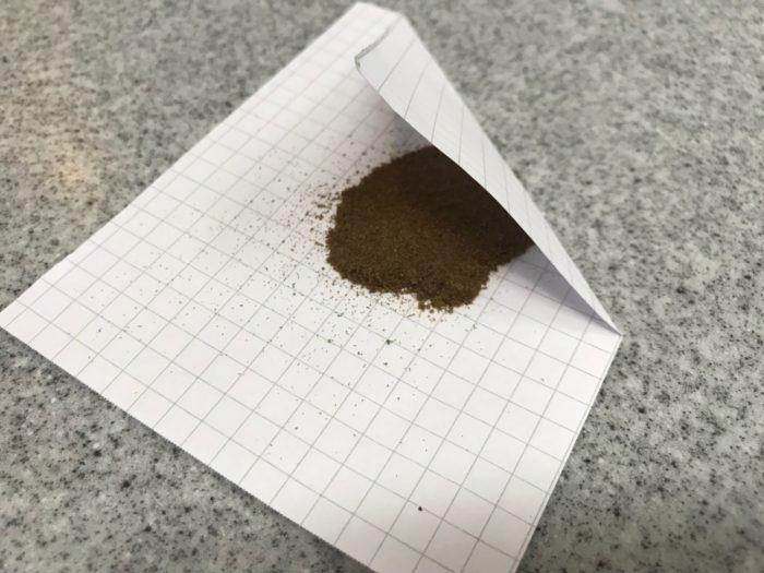 乾燥させる為、紙などに包んで10日程、保存し乾燥させましょう。