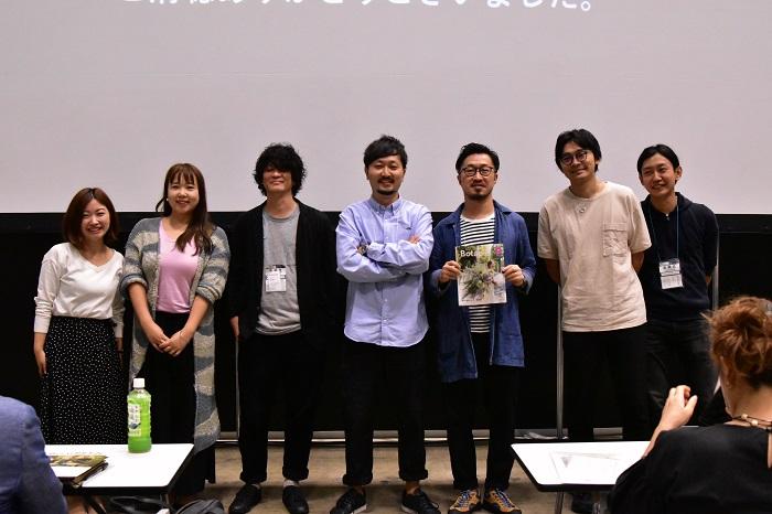 代表石塚とパネリスト6名。ご参加くださった皆様。ありがとうございました!
