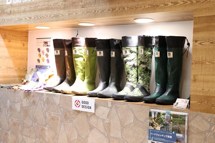 アトム株式会社では、ガーデニングに、農作業に、アウトドアに、雨の日にも大活躍するブーツのご提案をされていました。