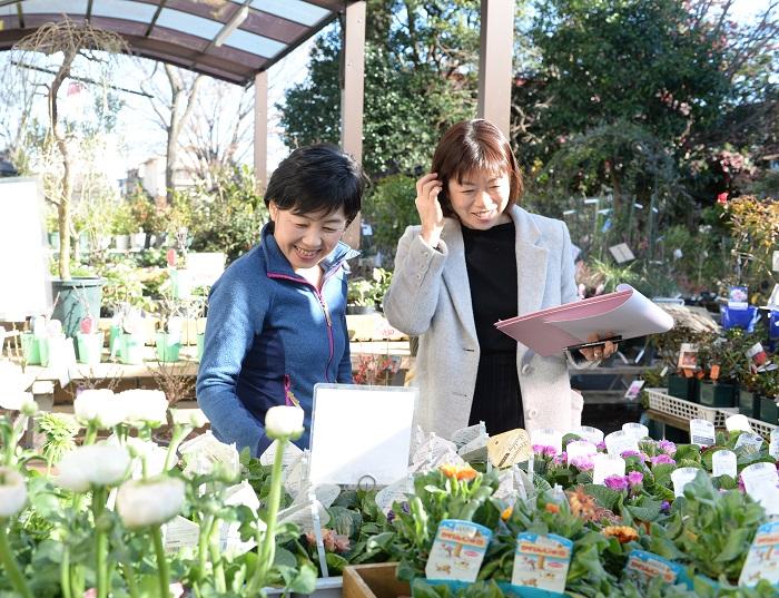 渋谷園芸の苗はとにかく良いんです!活力が違うんです!凄腕の仕入れ担当がいるので、いつも最高の苗が入ってくるんですよ。最高の状態の苗を使って教室ができることが本当に幸せです。