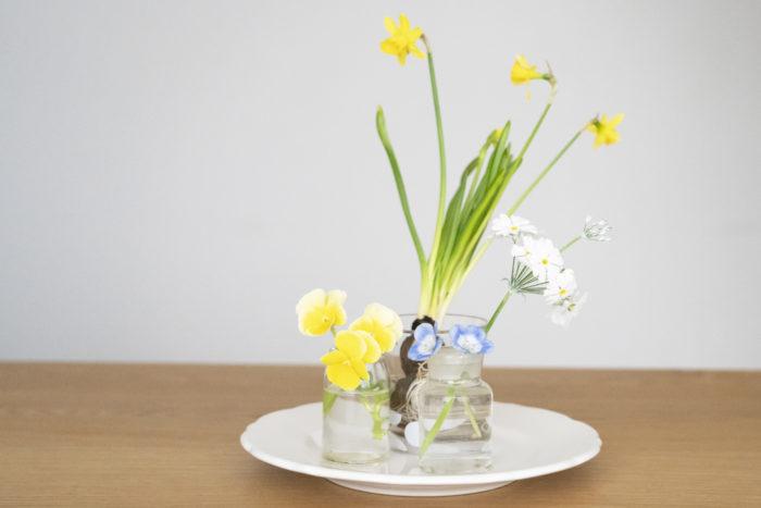 特集最後にはお庭で育てている短めの草花を素敵に飾れるテクニックを紹介します。  どれも簡単なので是非チャレンジしてみてください!