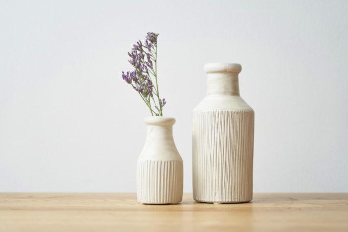 マットな質感の花瓶