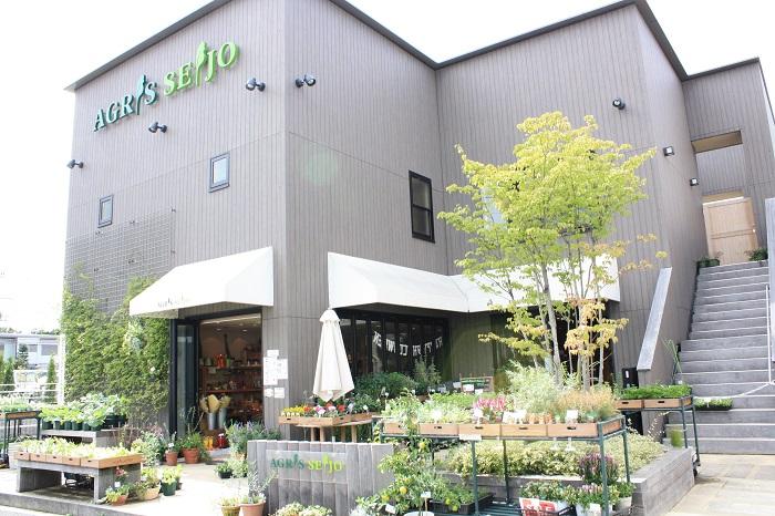 「アグリス成城」は、成城学園前駅西口から徒歩1分の貸菜園。経験豊富なインストラクターが常駐し、道具はすべて揃っているので、会員さんは手ぶらでふらっと来園して作業ができます。会員制のクラブハウスには、ロッカー室やシャワールームも完備されています。