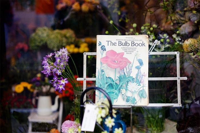 The Bulb Bookさんへ! 店内は季節のお花で溢れていました。