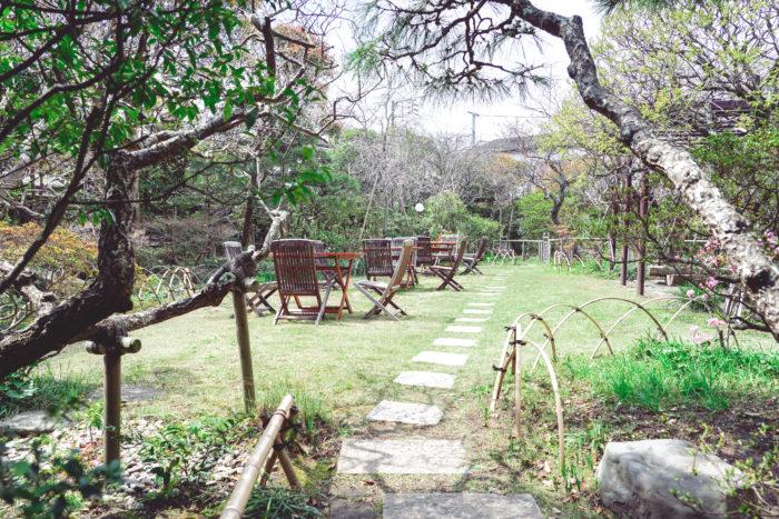 大佛茶廊の庭