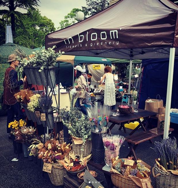 名古屋市西区にあるロックな花屋 in bloomさん。sweet jungleではドライフラワーや缶バッジのワークショップをやってくれるかも??