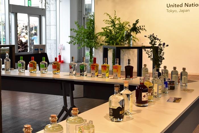 また、Craft Gin Bar Loungeが青山国連大学のラウンジ内で同時に開催されました。