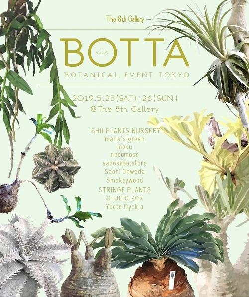 Instagramで人気の植物店が集まって開かれる植物の展示・即売イベントBOTTA。  サボテンや多肉植物、コーデックス、ラン、シダ、アリ植物など、様々なジャンルの今話題の植物が勢揃いするとあって会場にはたくさんの来場者が訪れていました。