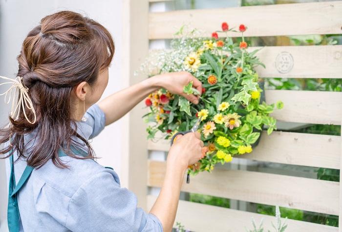 植物を手入れしている時間が好きです。よくお客さんに「雨が降っていたり暑い日とか、大変ね。」と言ってもらうのですが、全く大変と思ったことはないんですよ(笑)。  植物は手入れ次第で病気になるならないか変わるので、一生懸命手入れして暑さや雨風から植物を守ってあげた結果、きれいに花が咲いてお客さんに「いいお花がそろっているわね。」と言ってもらえたり、お客さんが嬉しそうに買って行く姿を見ることが一番嬉しいんです。