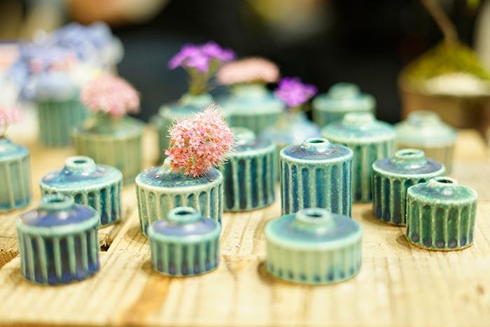 美しい青がパッと目を引いた福美ようさんの作品。