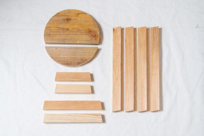 ウッドスツールの材料