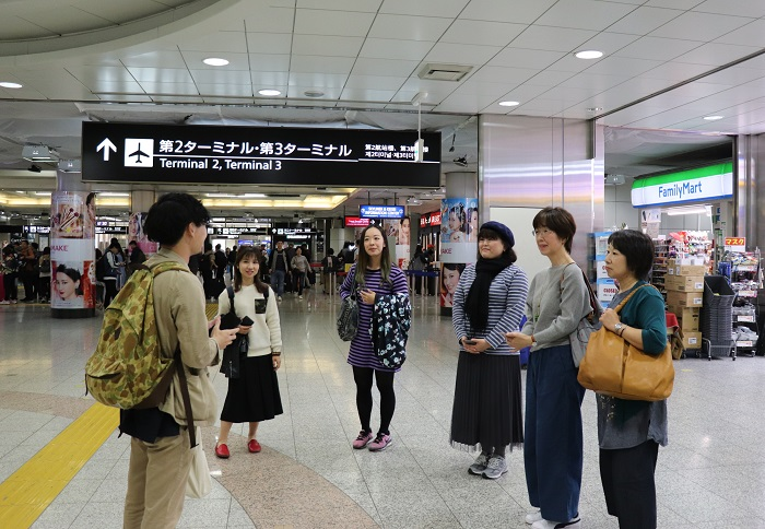 11/1㈮、参加者の皆様とLOVEGREEN編集部メンバーが成田空港第2ビル駅にて集合。それぞれ千葉や神奈川、東京から集まり、全員初めての顔合わせで少し緊張気味でツアーがスタートしました。