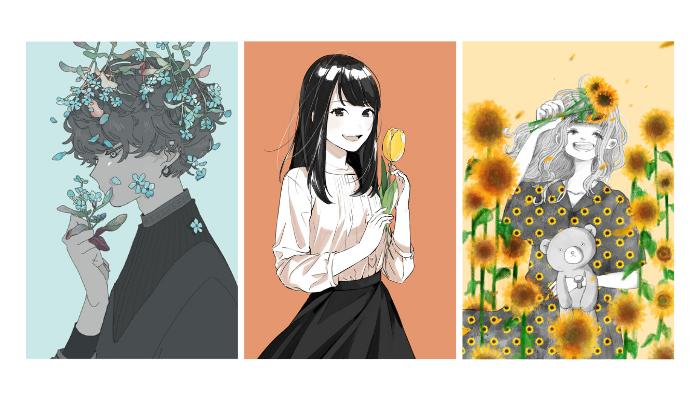 書籍「花束を買いに」イラスト