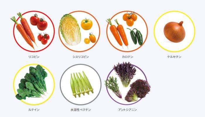 抗酸化機能で免疫力を高めるリコピンや、目、器官、皮膚を正常な状態に維持する研究報告があるカロテといった栄養分をはじめ、目の健康を維持するアントシアニン、血糖値を正常な状態に維持するケルセチン、ほかにも、シスリコピン、ルティン、水溶性ペクチンなど、品種ごとにそれぞれ高い栄養分を含んだ野菜を19品種もラインナップ! 定番のトマトやピーマンといった夏野菜をはじめ、葉野菜、根菜まで幅広くそろいます。