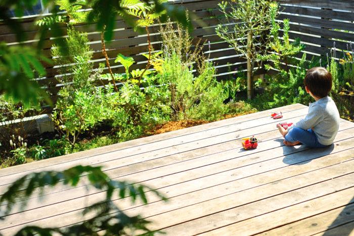 晴れの日は、家の周りで遊ばせたり、近所を散歩したり。自宅のテラスでの日光浴は日課になりました。