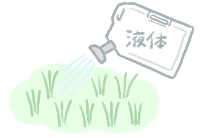 液体タイプは、ピンポイントで素早く雑草を退治したいときにおすすめです。夏になり草丈が15㎝ぐらいまで大きくなってから散布するほうが効果的です。雨で効果が落ちることがあるので、散布タイミングは雨天を避けたほうがいいそう。また、土にまいて根から薬剤を吸収させるのではなく、葉や茎に散布して枯らすため、散布直後に他の植物を植えたいときにもおすすめです。水で薄めて使うタイプは経済的で、すでに希釈してありそのまま使えるタイプは手間がかからないのが魅力。