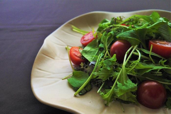 ベビーリーフは葉野菜の若い葉です。これから生長する若葉には栄養がいっぱいです。  ベビーリーフには具体的にどんな栄養が含まれているかというと、主にビタミン類、カロテン、食物繊維などです。特にビタミン類などは加熱調理すると破壊されてしまうものもあります。ベビーリーフならクセも少なく食べやすいので、生のままたくさん摂取できるというメリットがあります。