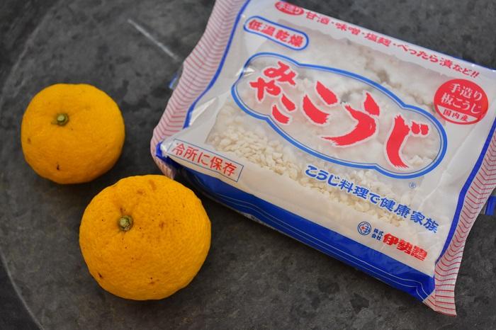 柚子(ゆず)塩麹 材料