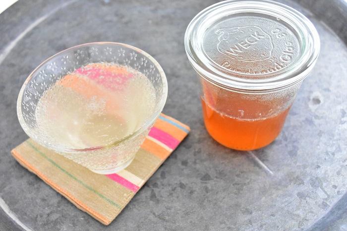 大さじ1/2のシロップをソーダ水で割った自家製ジンジャエール