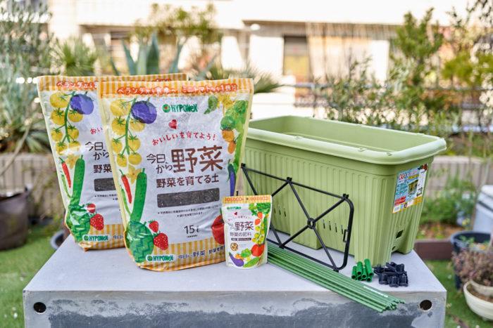 本気野菜ミニトマト純あまで育てるプランター家庭菜園の栽培セット