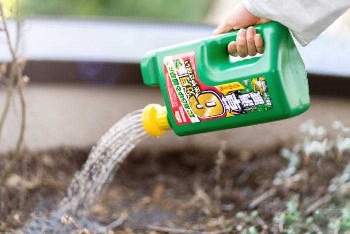 雑草が生える前に除草剤「カマイラズ 草消滅」を準備しよう