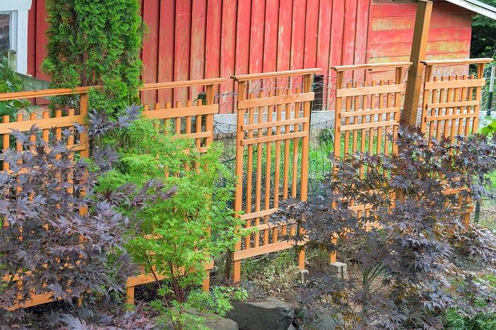 お庭のDIY フェンス