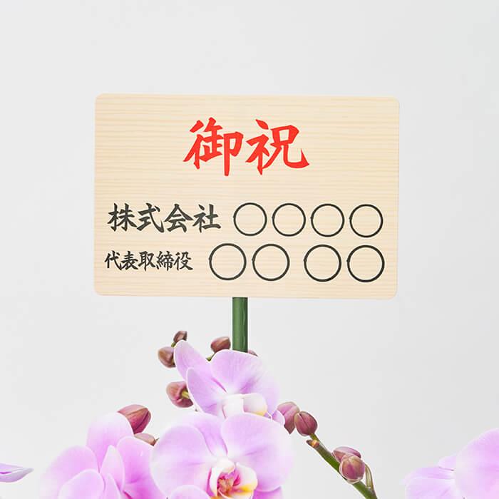 観葉植物を贈る時の開店・開業祝いの立札